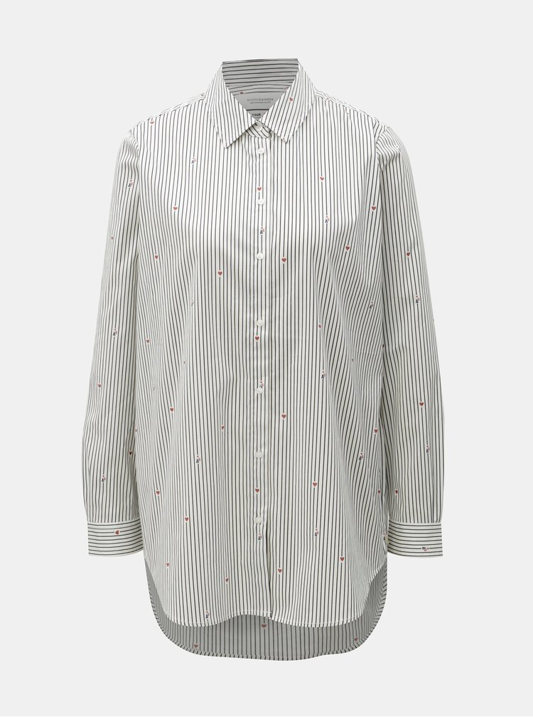 Modro-bílá pruhovaná košile Scotch & Soda
