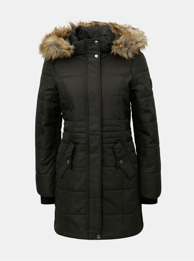 Khaki zimní kabát VERO MODA Idol