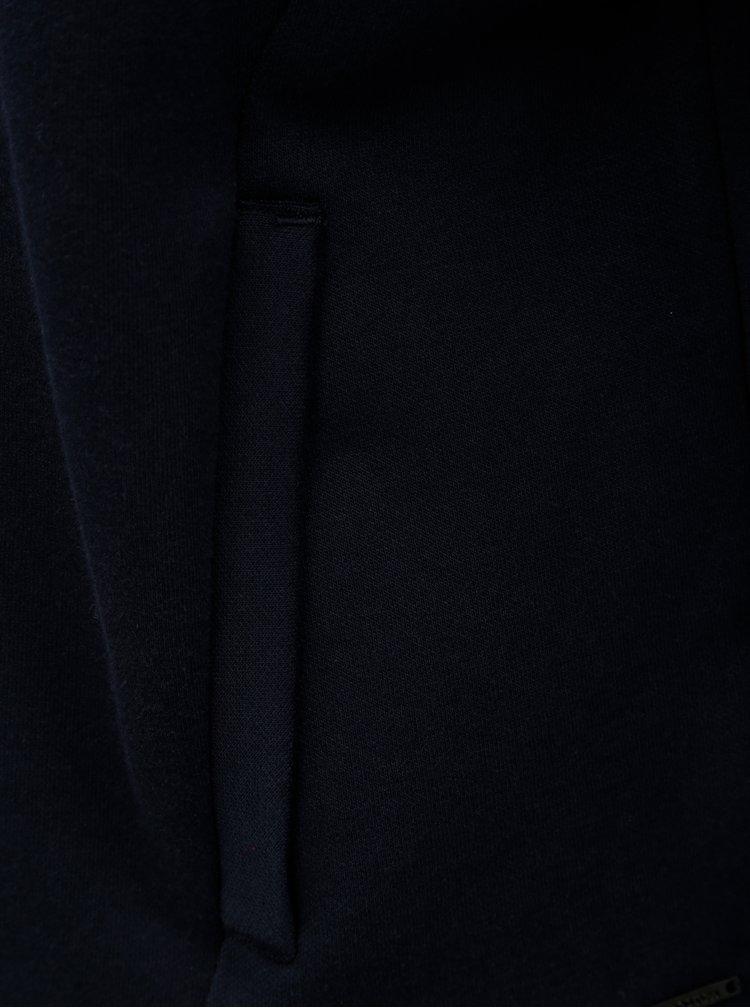 Bluza sport albastru inchis cu guler inalt Scotch & Soda
