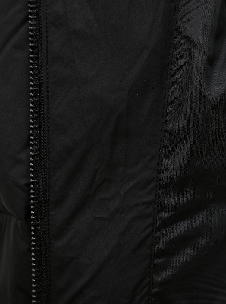 Pardesiu negru matlasat de puf VERO MODA Comfy
