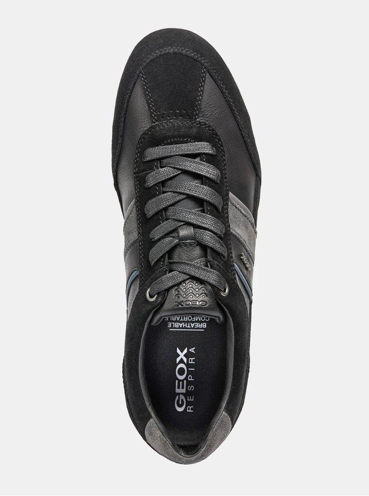Černé pánské tenisky se semišovými detaily Geox Wells U