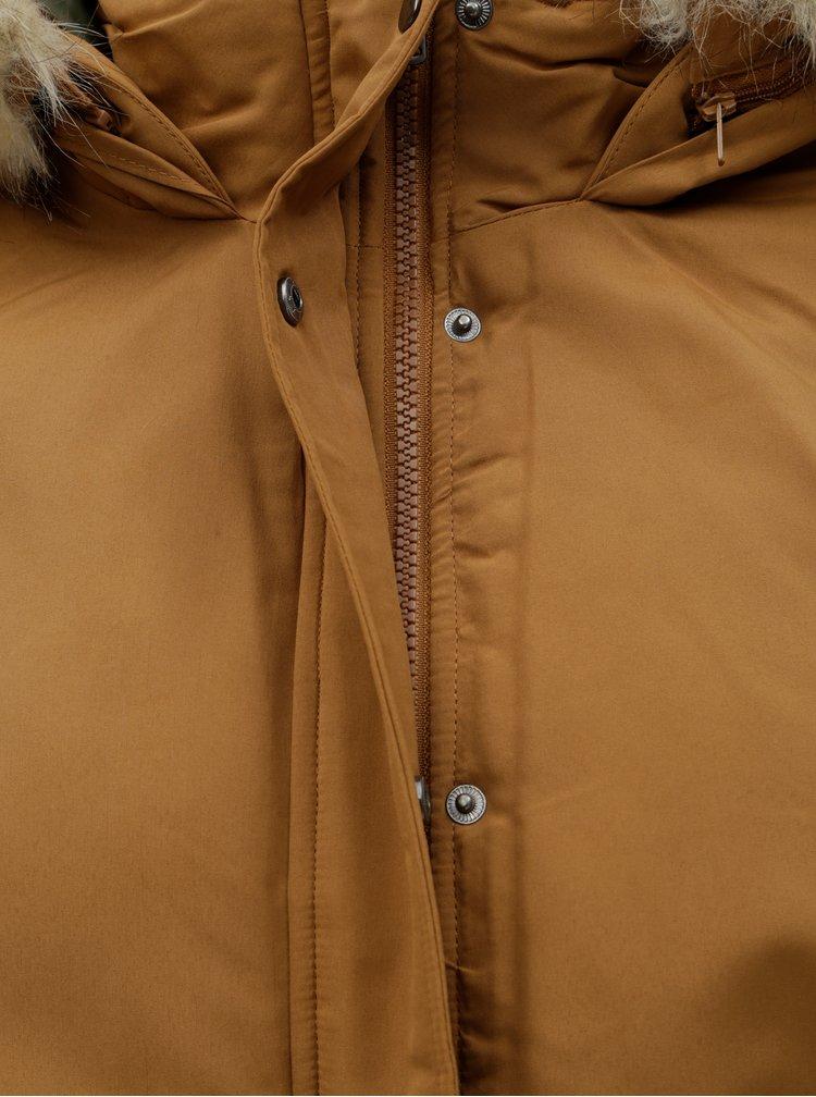 Hnědá dlouhá zimní bunda Jacqueline de Yong Star