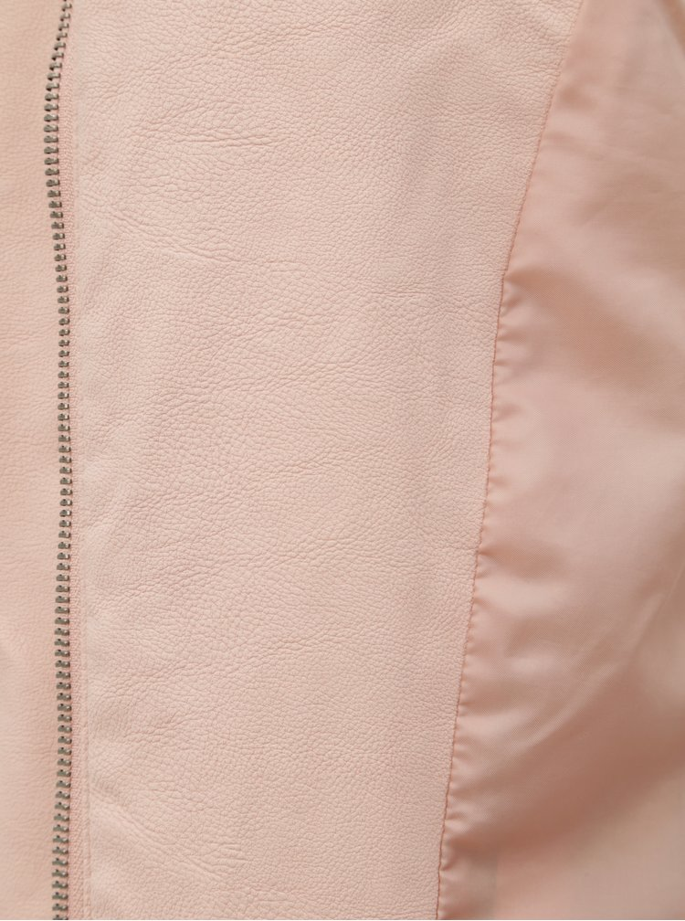 Ružový koženkový krivák ONLY Saga