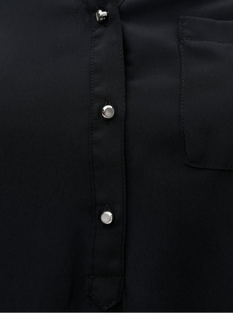 Černá halenka s 3/4 rukávem Dorothy Perkins Curve