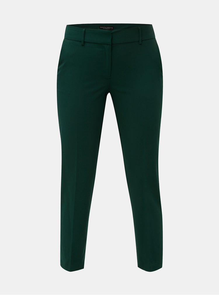 Pantaloni plisati verde inchis Dorothy Perkins