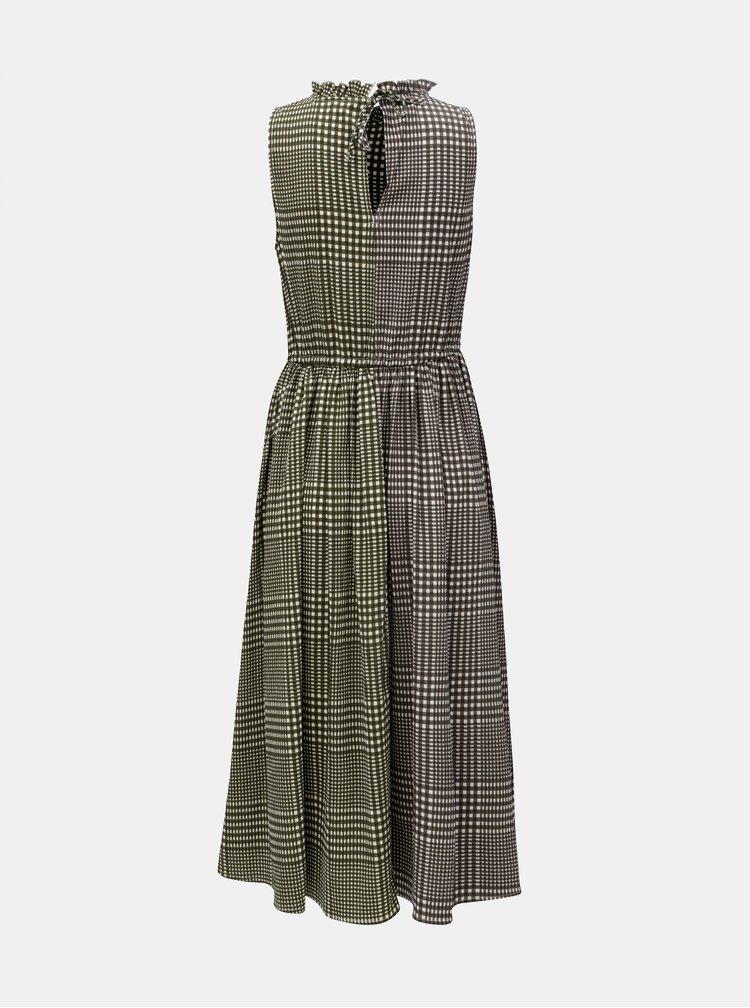 Šedo-zelené kostkované šaty VERO MODA Dorothy
