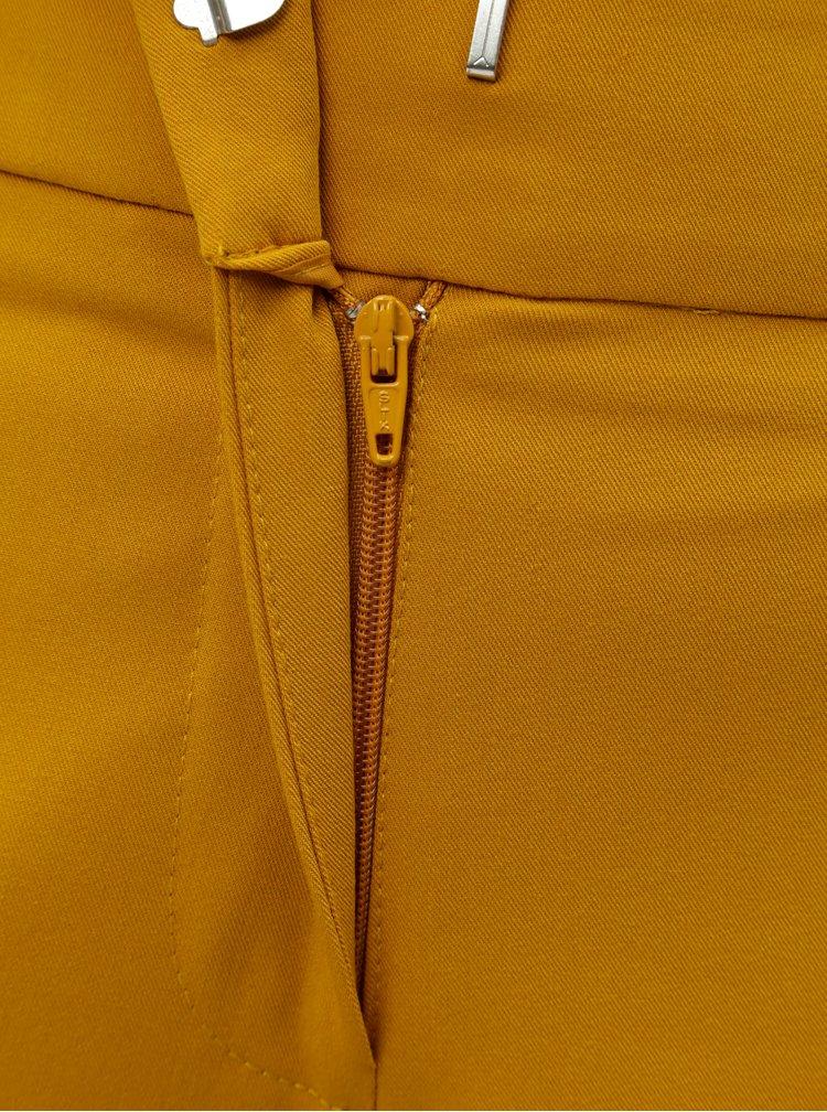 Pantaloni plisati mustar Dorothy Perkins Petite