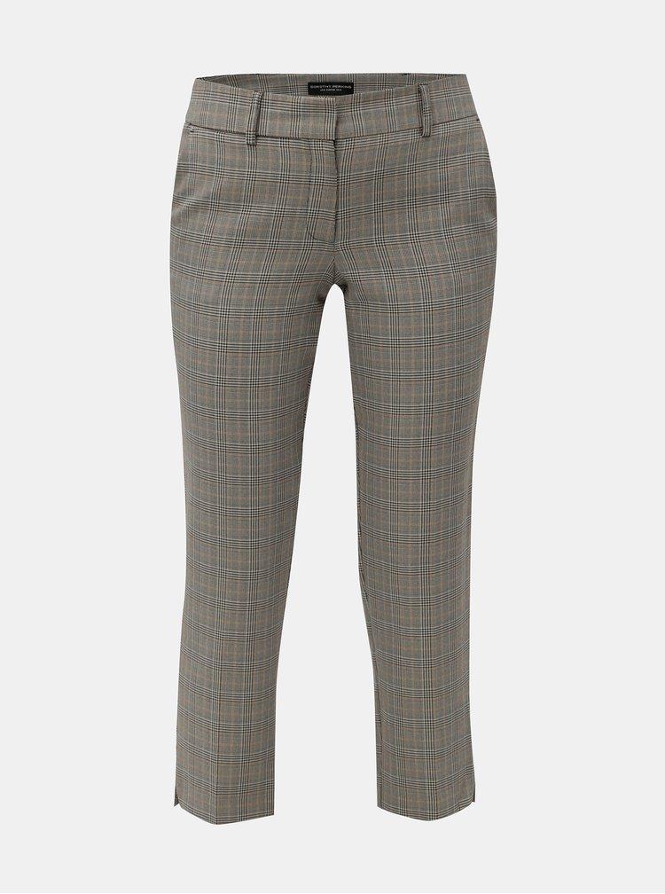 Béžovo-šedé kostkované kalhoty Dorothy Perkins