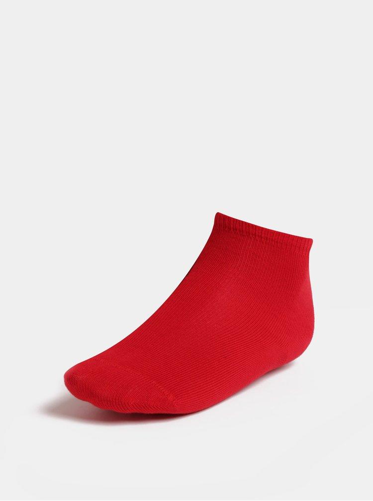 Sada pěti párů holčičích ponožek v červené, modré a růžové barvě Name it Melange