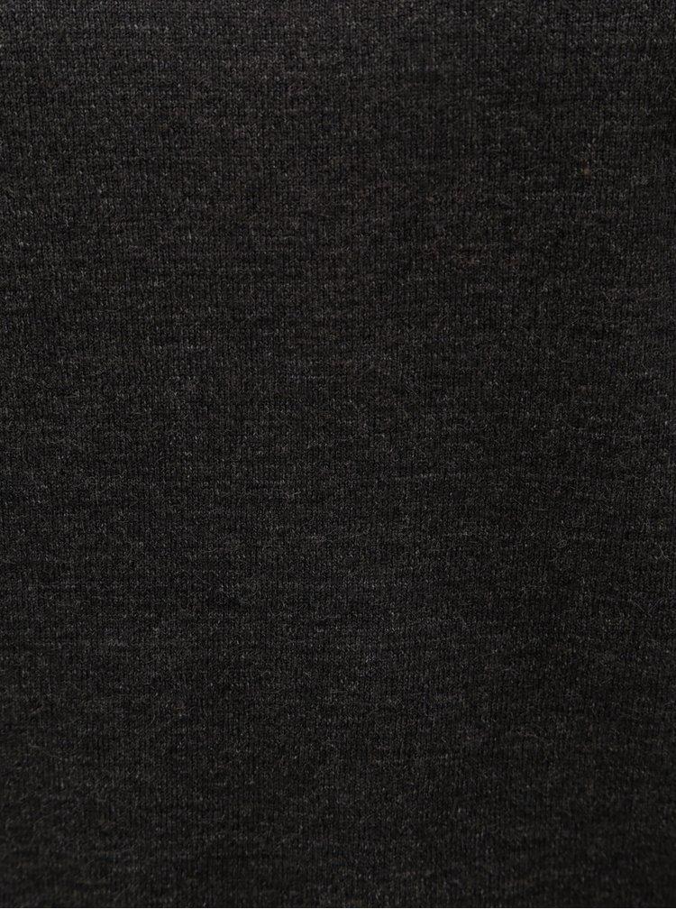 Tmavě šedý svetr se stojáčkem Jacqueline de Yong Day