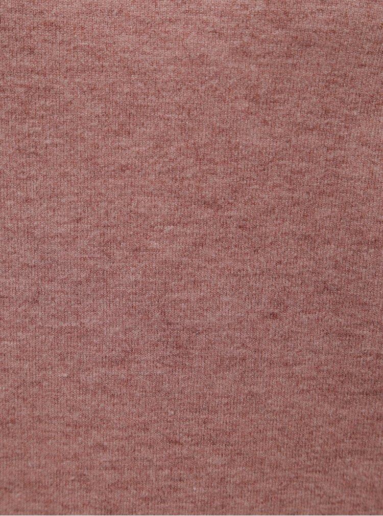 Pulover roz prafuit cu guler inalt Jacqueline de Yong Day