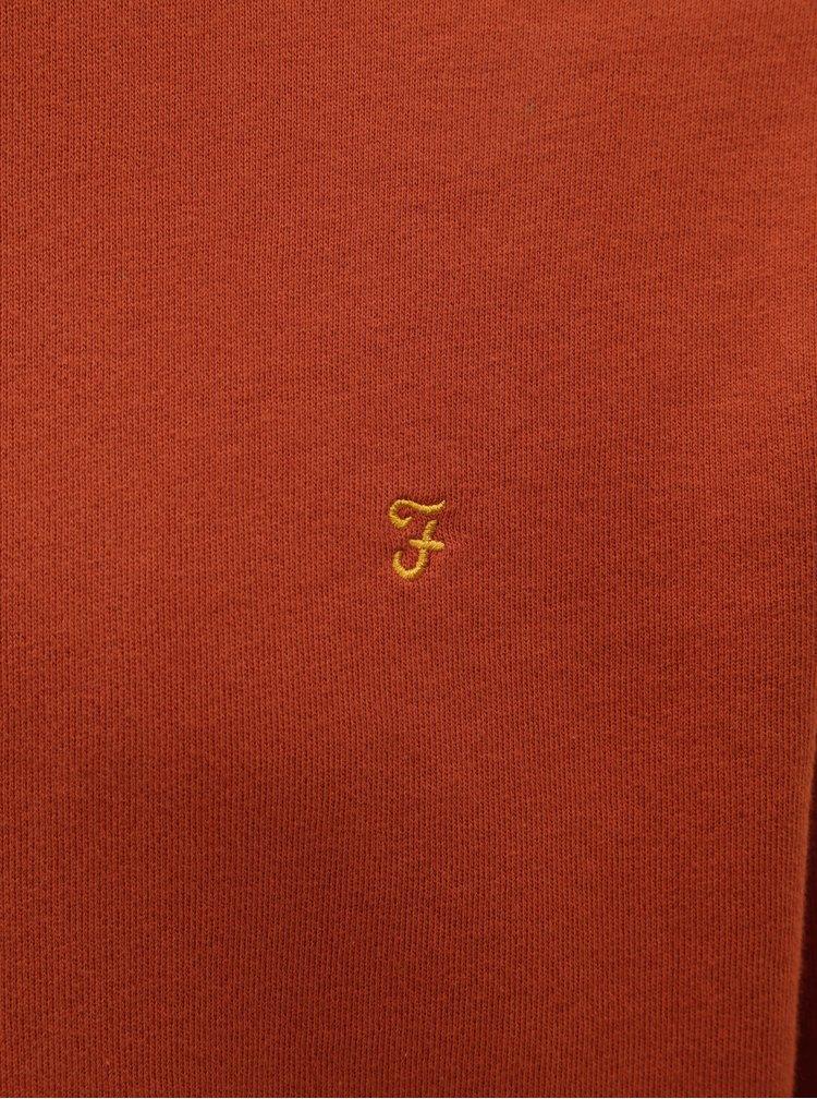 Bluza sport barbateasca maro Farah