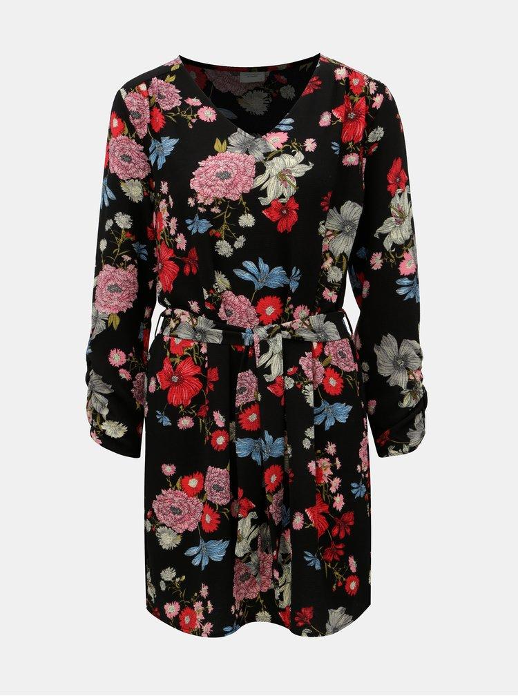 Rochie florala roz-negru Jacqueline de Yong New