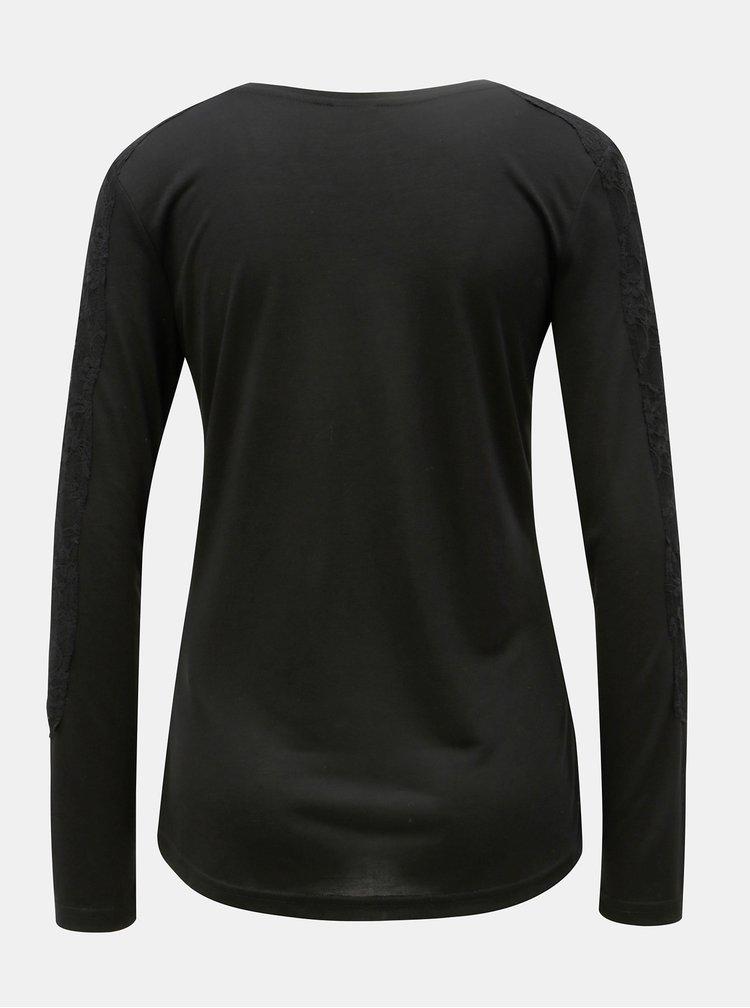 Černé tričko Jacqueline de Yong Olivia