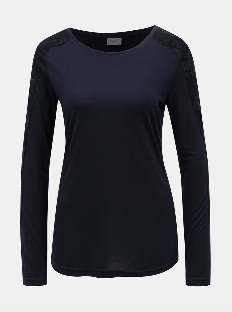 Tmavě modré tričko Jacqueline de Yong Olivia