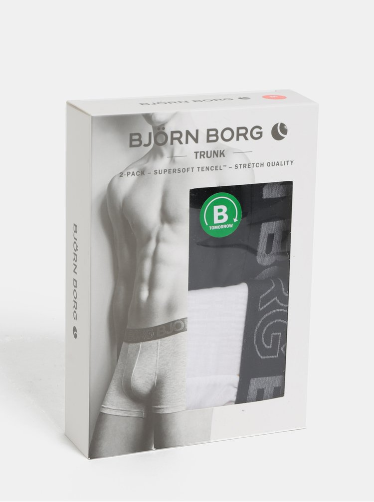 Sada dvou boxerek v bílé a černé barvě Björn Borg