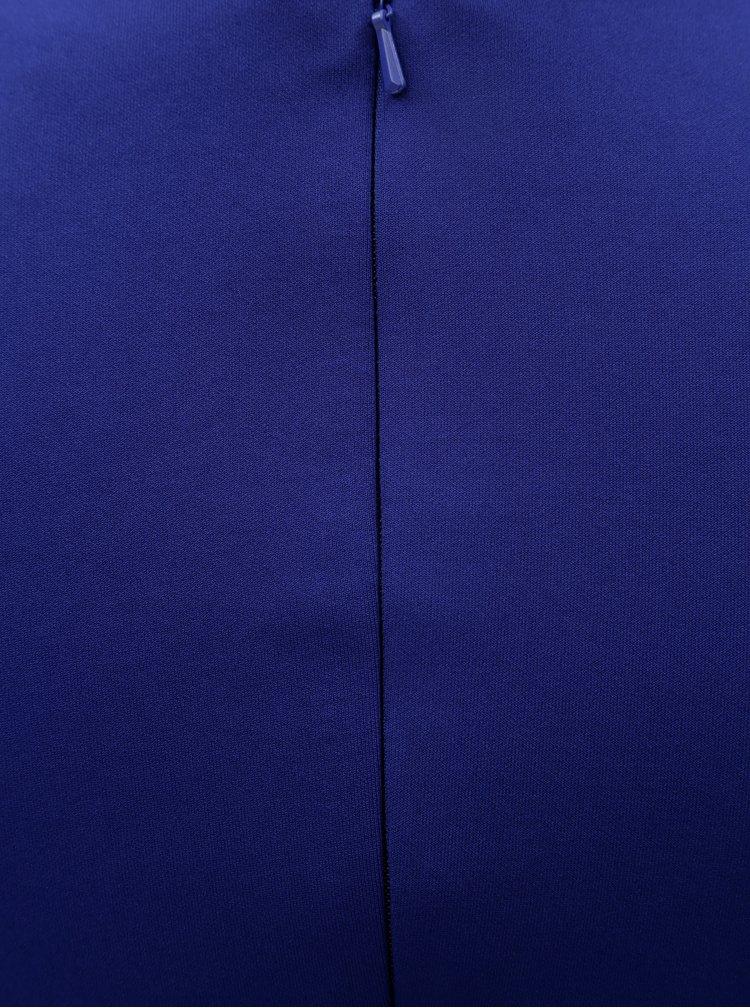 Modré puzdrové šaty so zberkaním na boku Scarlett B