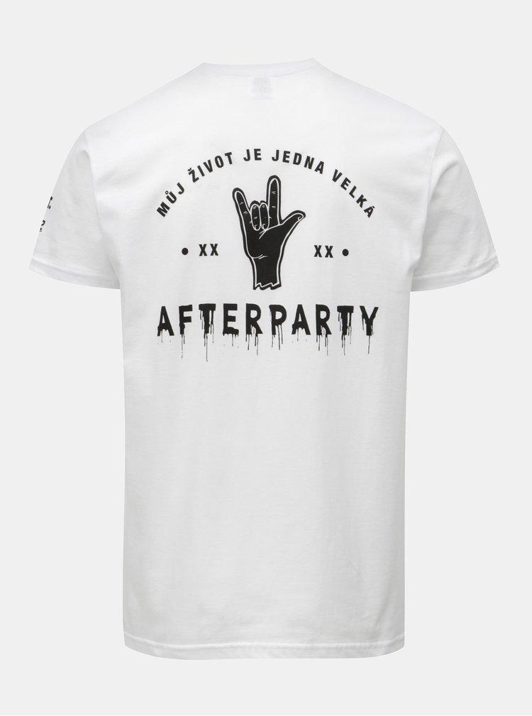 Bílé pánské tričko Evropa 2 & ZOOT Afterparty