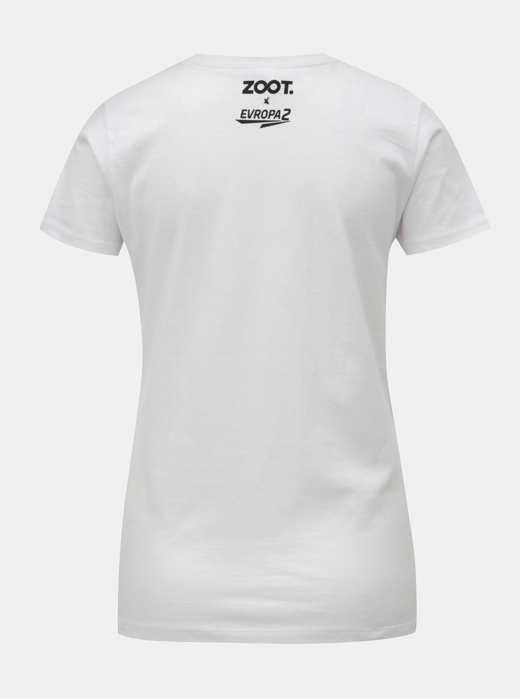 Bílé dámské tričko Evropa 2 & ZOOT XX