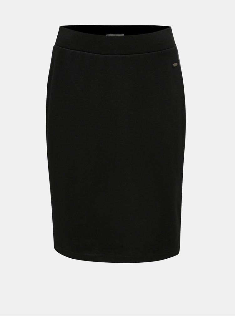Čierna sukňa s koženkovými pruhmi Cars Ivana