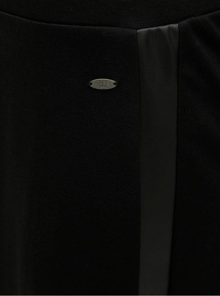 Černá sukně s koženkovými pruhy Cars Ivana
