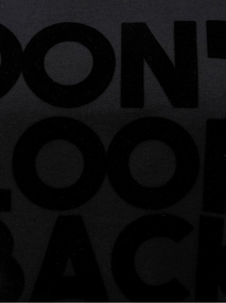 Černé mikinové šaty Cars Fear