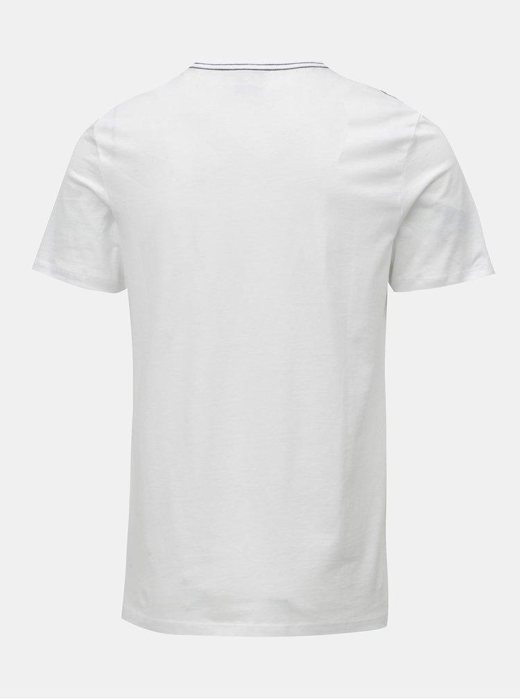 Biele tričko s potlačou Jack & Jones Rico