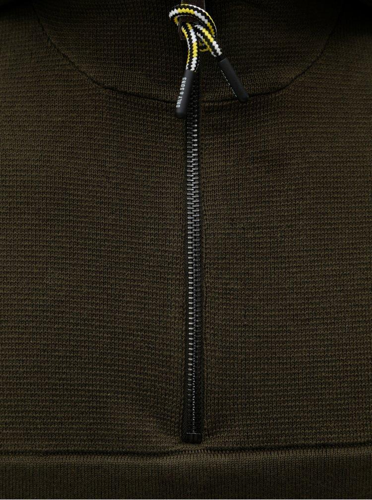 Khaki mikina s kapucí ONLY & SONS Parker