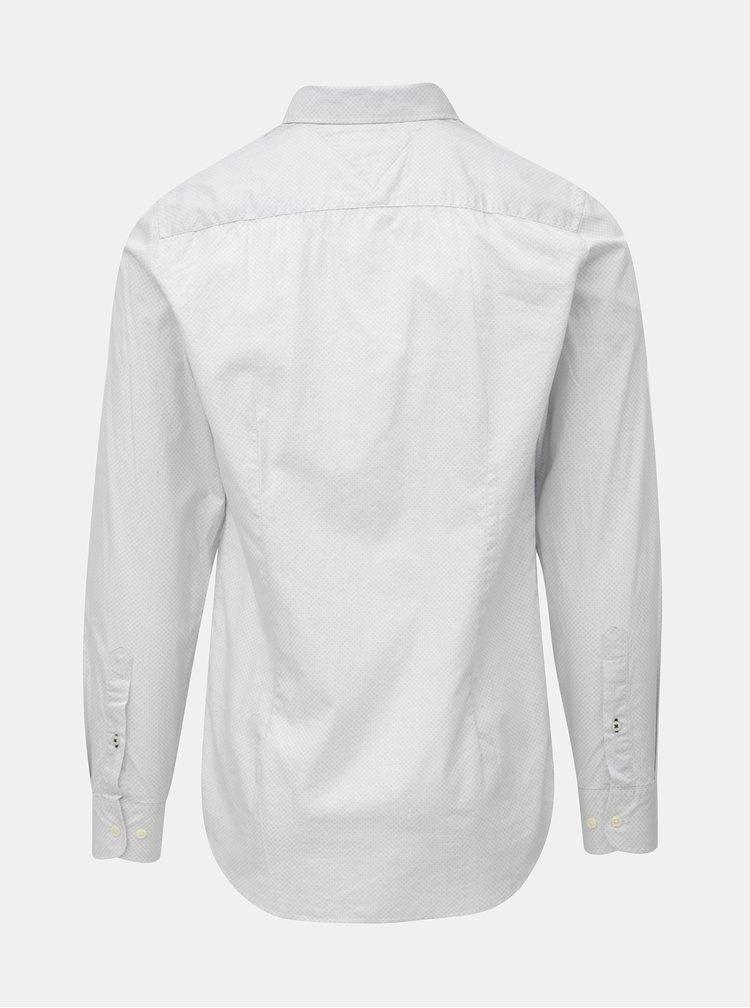 Svetlosivá pánska slim fit košeľa Tommy Hilfiger Diamond
