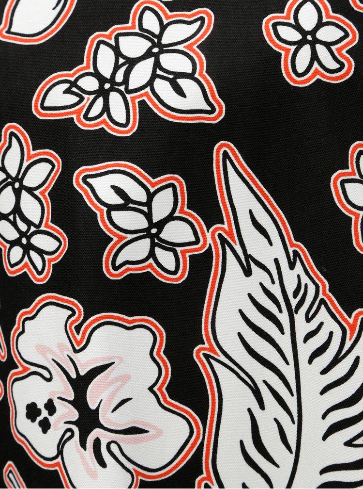 Bielo-čierne kvetované šaty Tommy Hilfiger