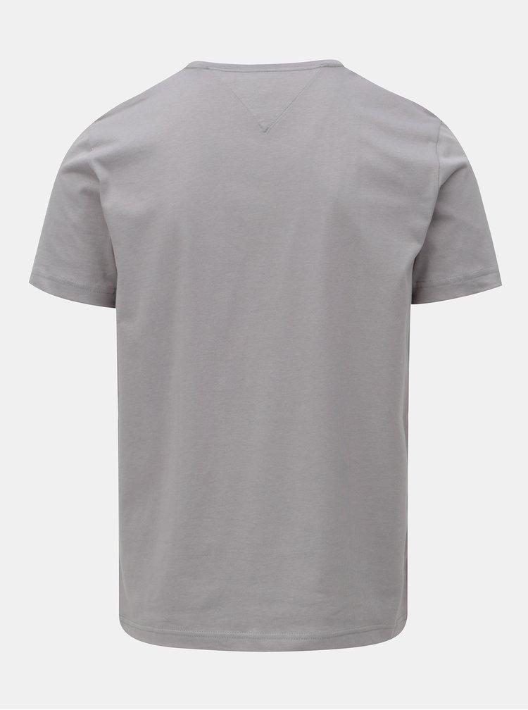 Šedé pánské tričko s potiskem Tommy Hilfiger Shear Tee