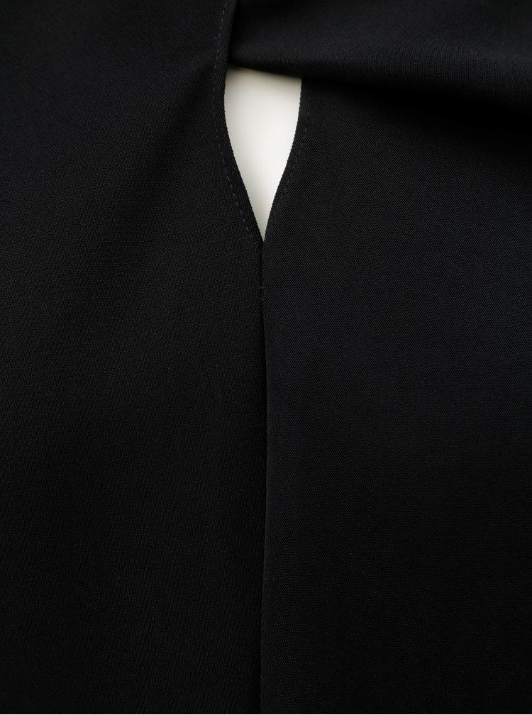 Čierna blúzka s prestrihom v dekolte Tommy Hilfiger Jacky