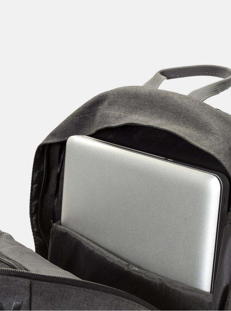 Vínovo-šedý batoh s potiskem a penálem Meatfly 20 l