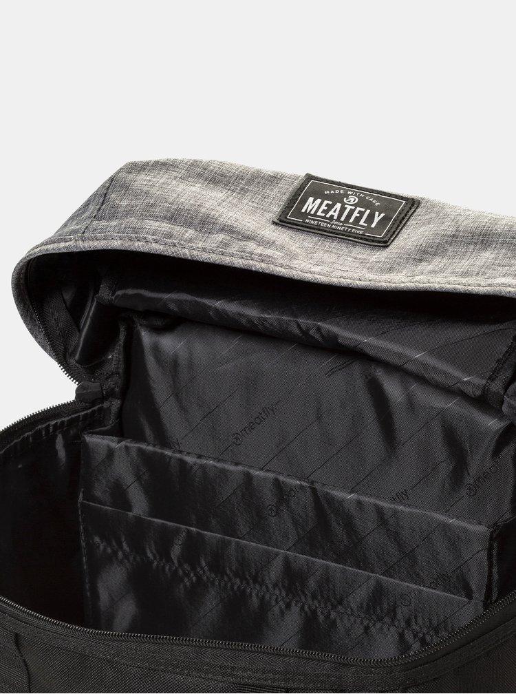 Šedo-černý batoh Meatfly 30 l