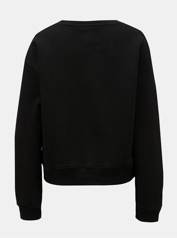 Bluza sport de dama neagra cu broderie Pepe Jeans