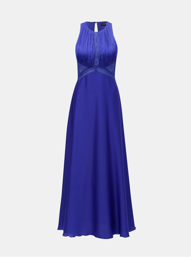 Rochie maxi albastra cu top plisat Little Mistress