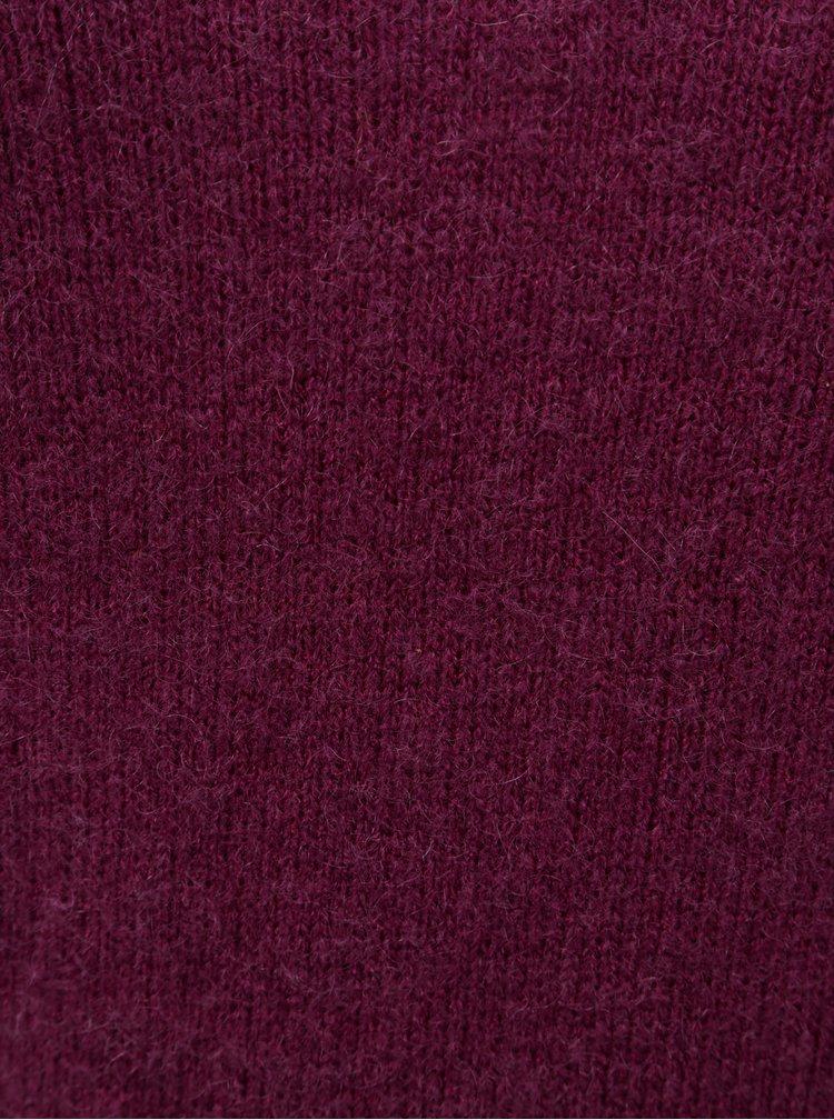 Pulover mov cu amestec de lana Zizzi Camilla