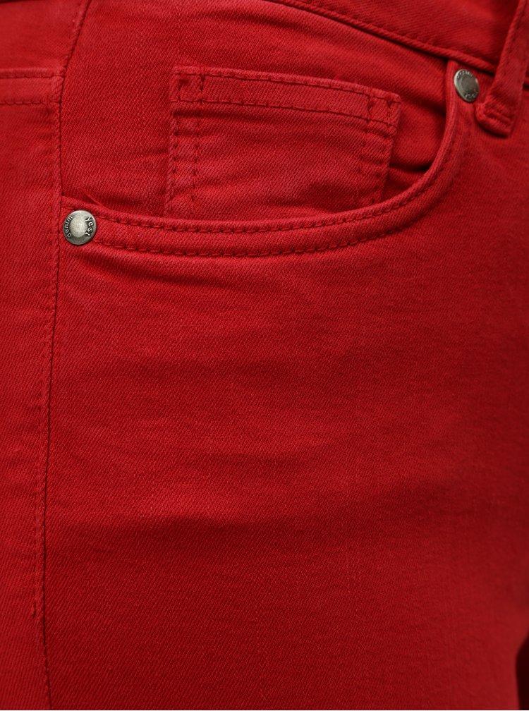 Červené slim fit džíny Yest Mell