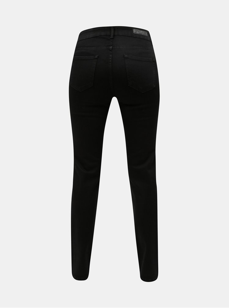 Čierne straight fit jeggings Yest Lynn