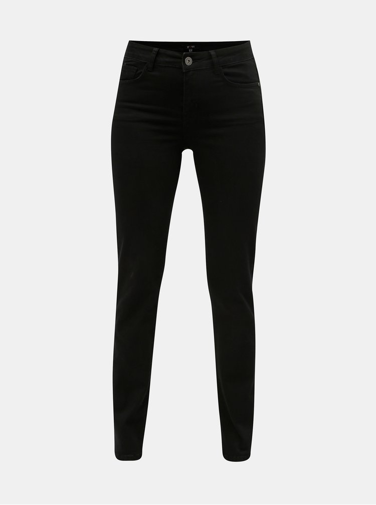 Černé straight fit jeggings Yest Lynn