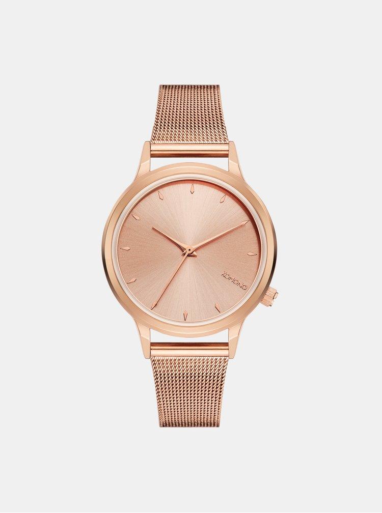 Dámske hodinky v ružovozlatej farbe Komono Lexi Royale