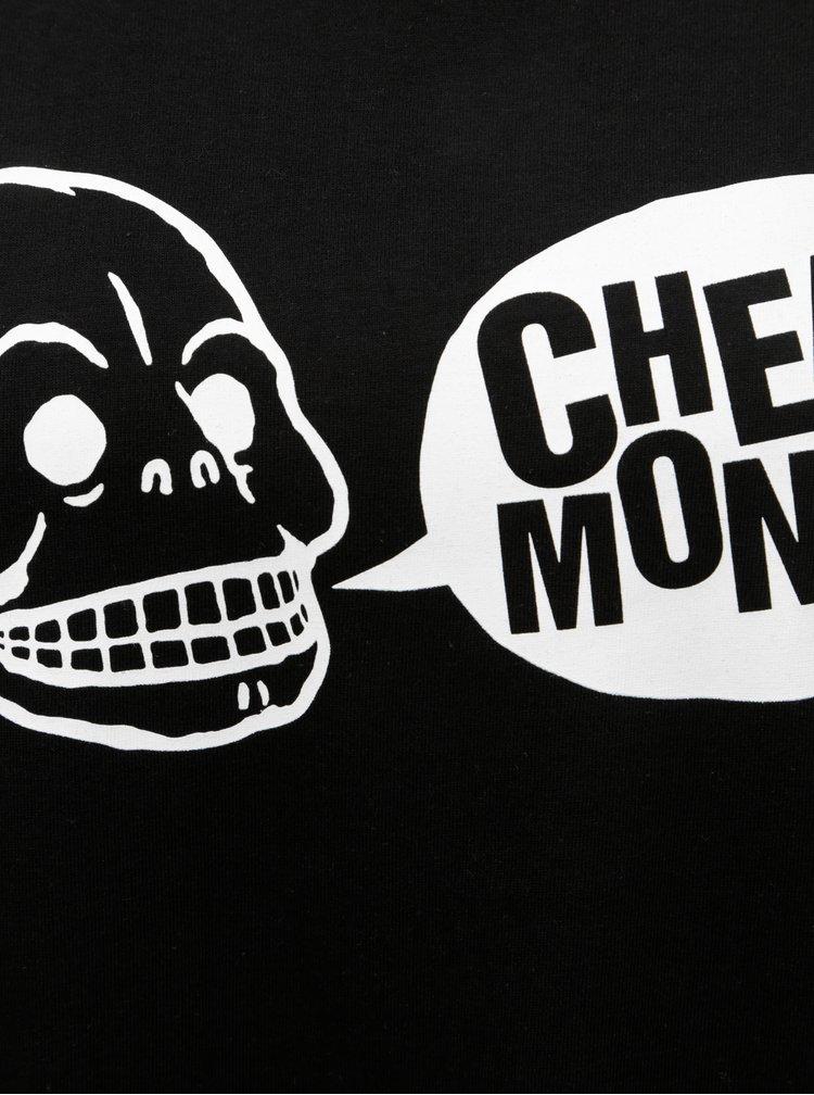 Černé dámské oversize tričko s potiskem Cheap Monday