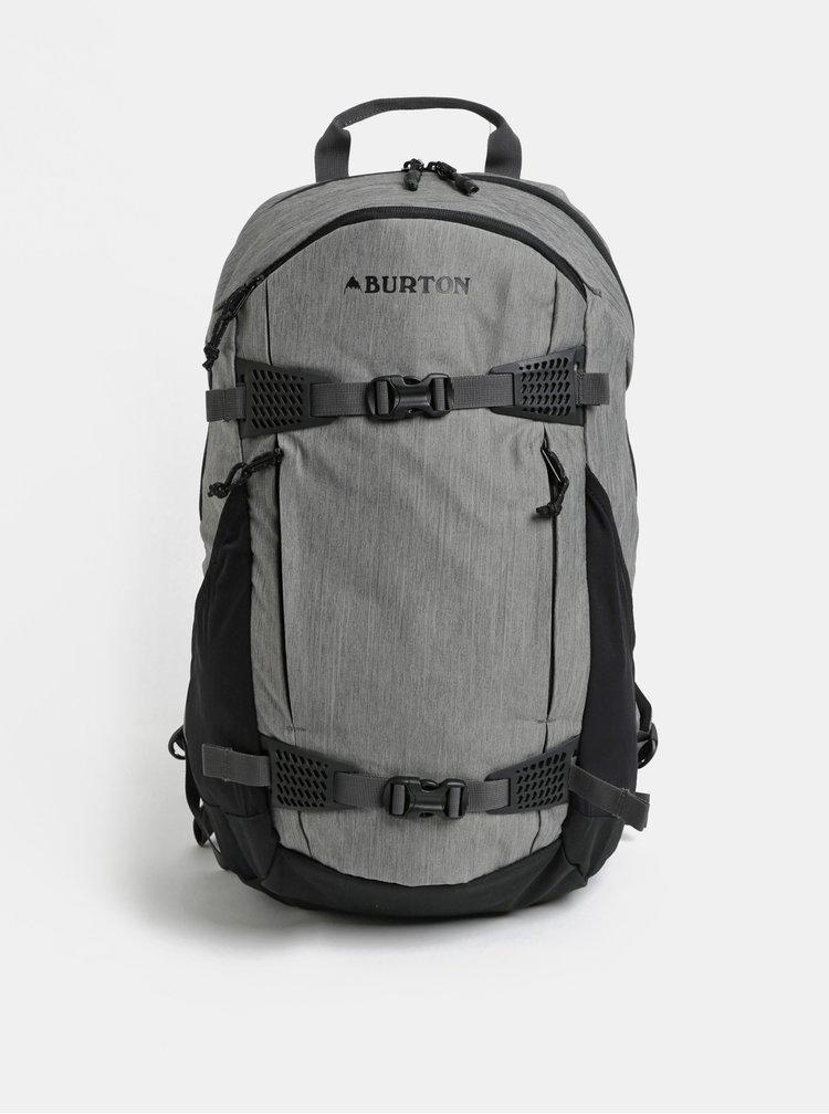 Čierno-sivý melírovaný batoh Burton 25 l