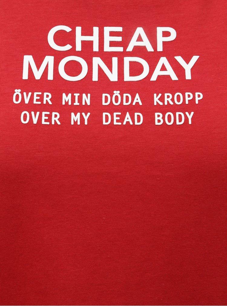 Tricou rosu cu print Cheap Monday