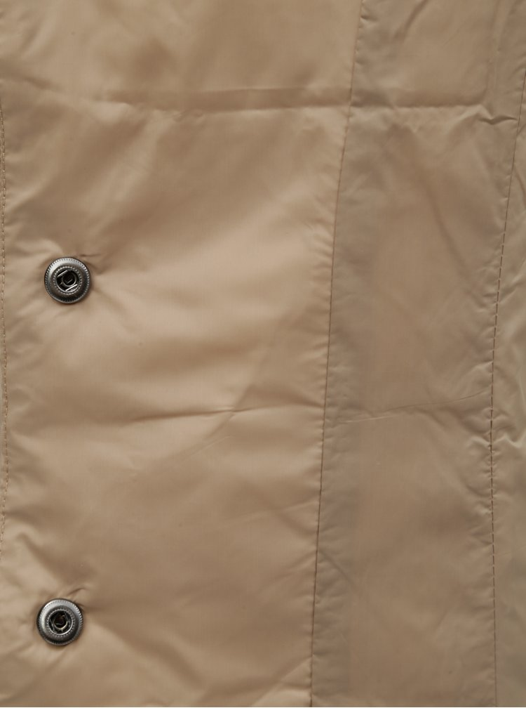 Béžová lehká prošívaná bunda Yest