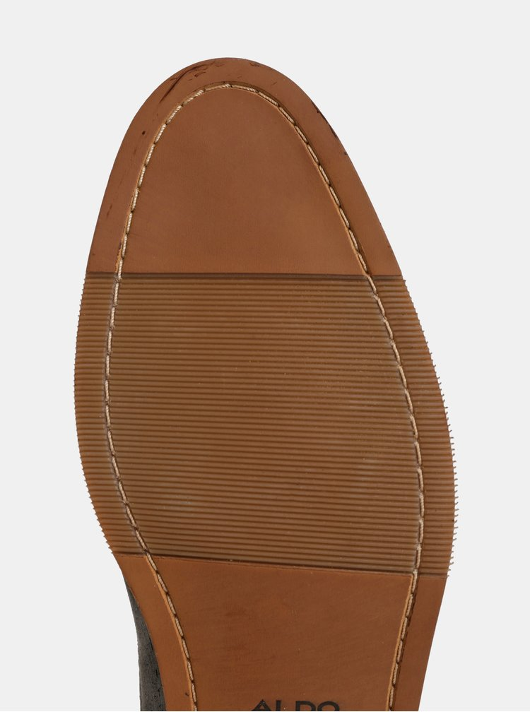 Pantofi barbatesti gri din piele naturala ALDO