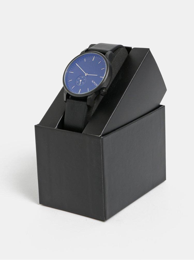 Pánské hodinky s černým koženým páskem Komono Winston Subs