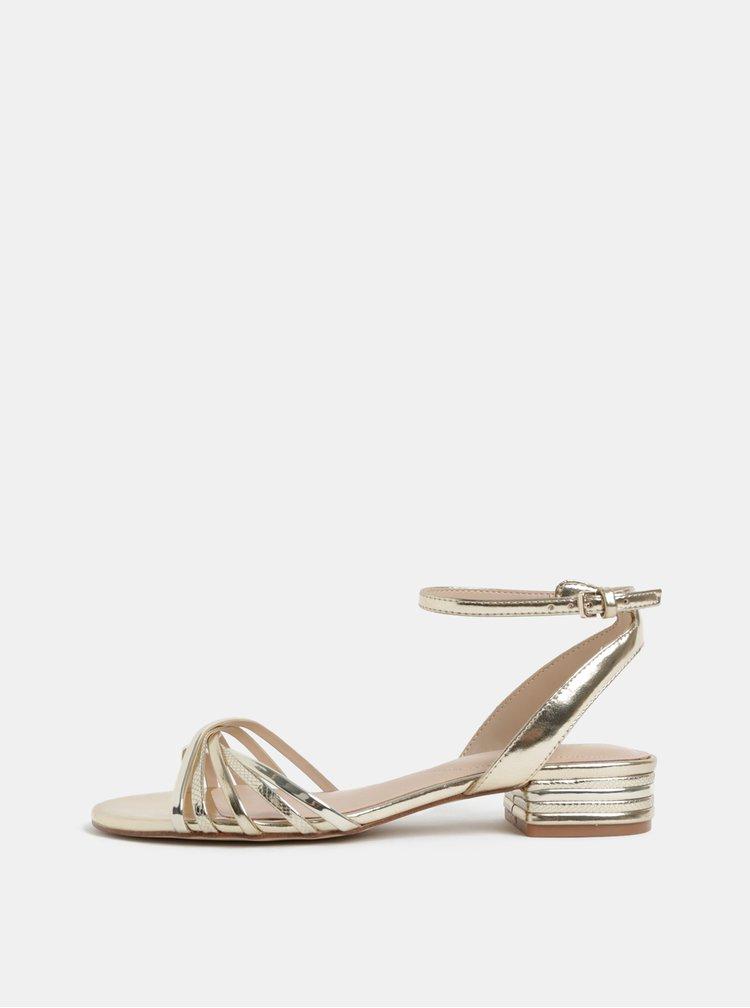 Dámske sandále v zlatej farbe ALDO