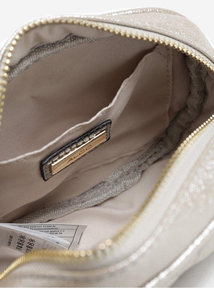 Béžová dámská třpytivá ledvinka/crossbody kabelka ALDO