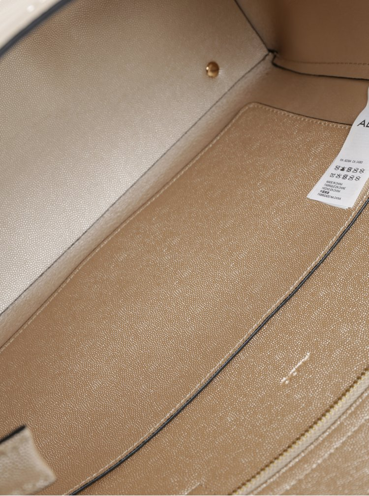 Lesklá béžová kabelka ALDO